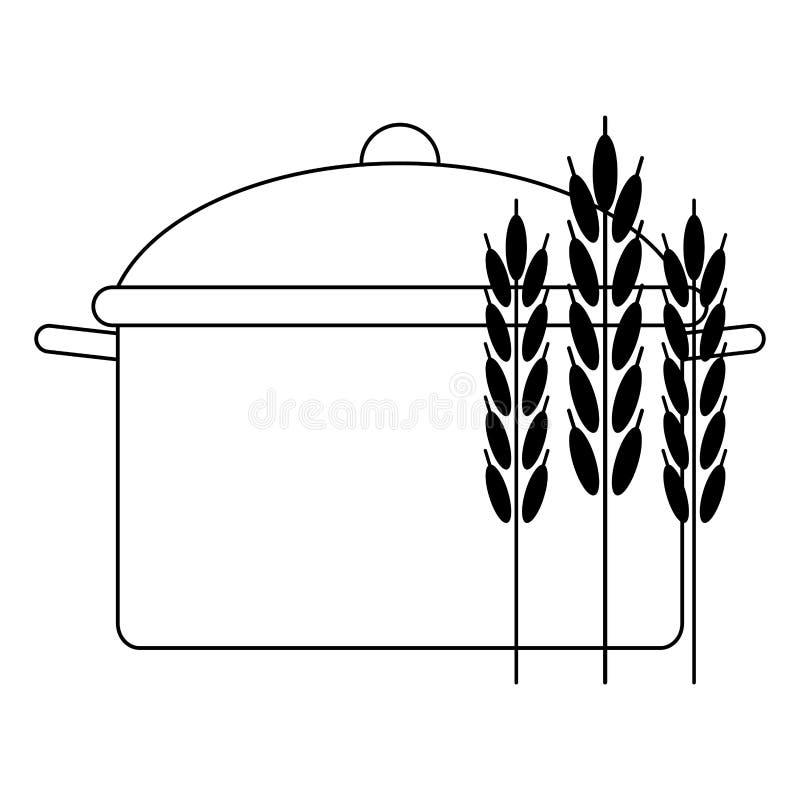 Sund och allsidig mattecknad film i svartvitt royaltyfri illustrationer