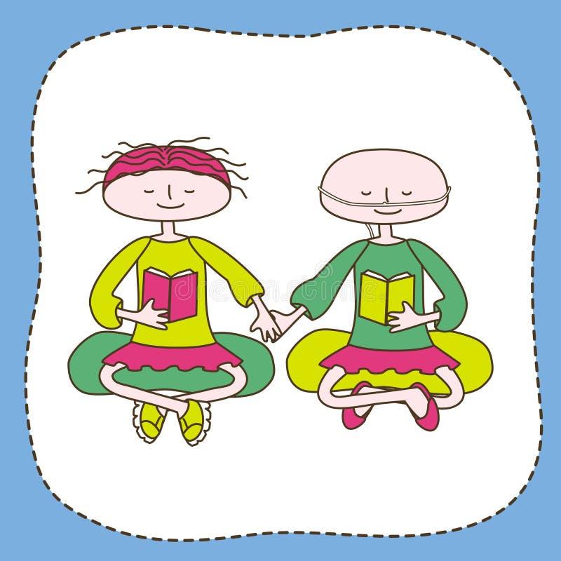 Sund och rörelsehindrad tonår stock illustrationer