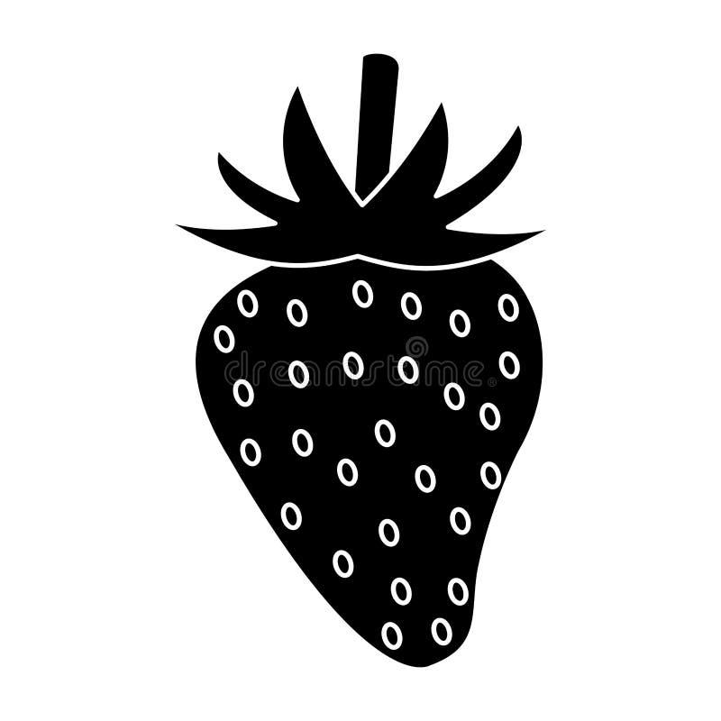sund pictogram för jordgubbenäring vektor illustrationer