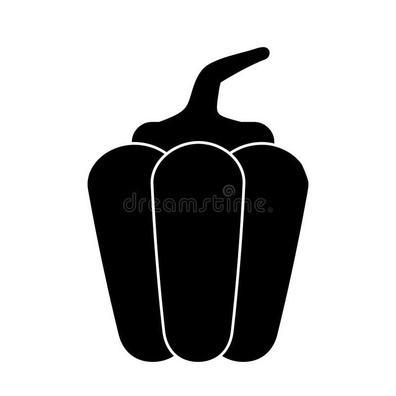 sund pictogram för peppargrönsak royaltyfri illustrationer