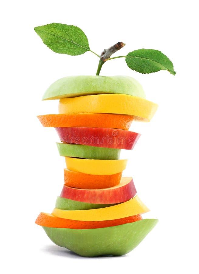 Sund slank fruktblandning arkivbild