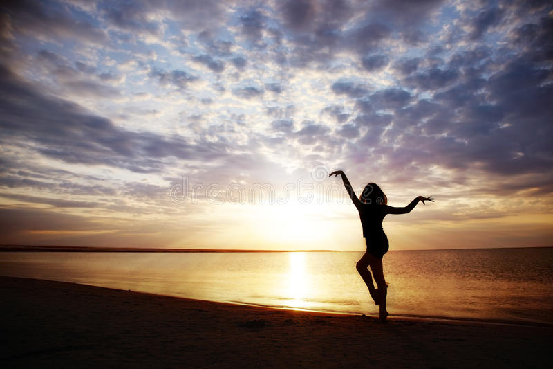 sund solnedgång royaltyfri foto