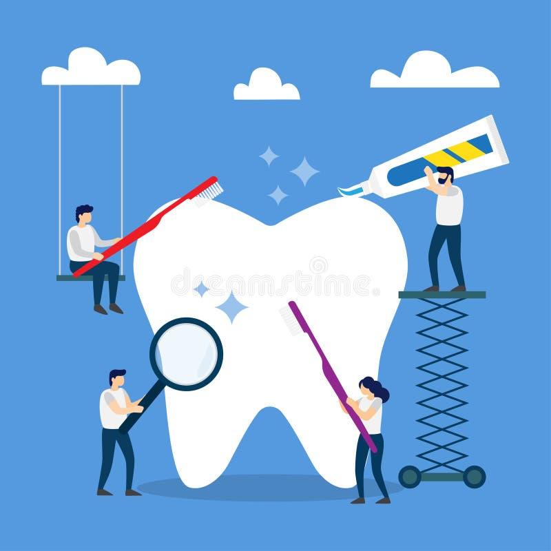 Sund tandborste och tandkräm för borsta för tand Borsta din varje dag stock illustrationer