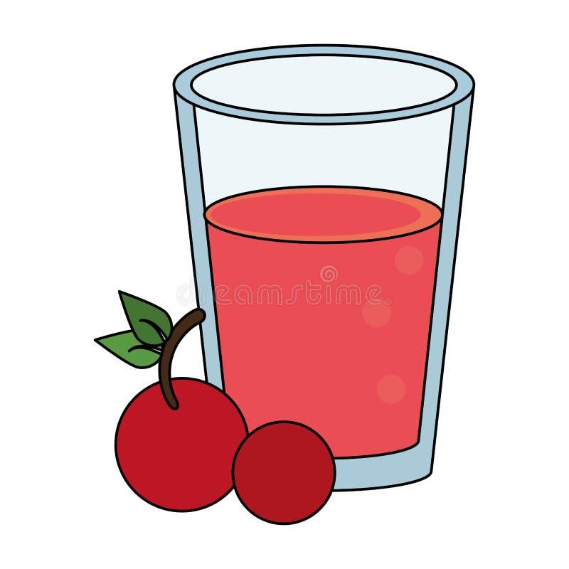 Sund tecknad film för drinkfruktsaftnatur royaltyfri illustrationer
