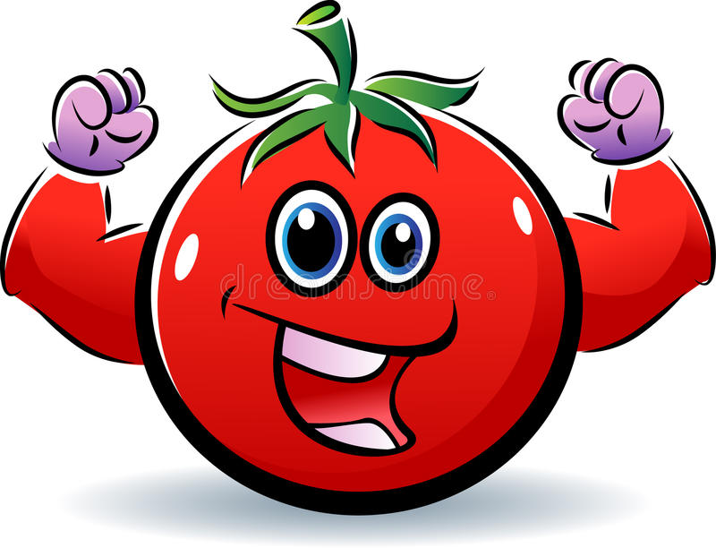sund tomat royaltyfri illustrationer