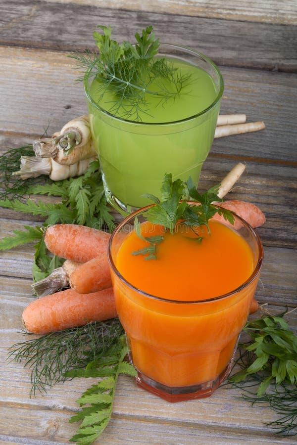 Sunda grönsakfruktsafter royaltyfri foto