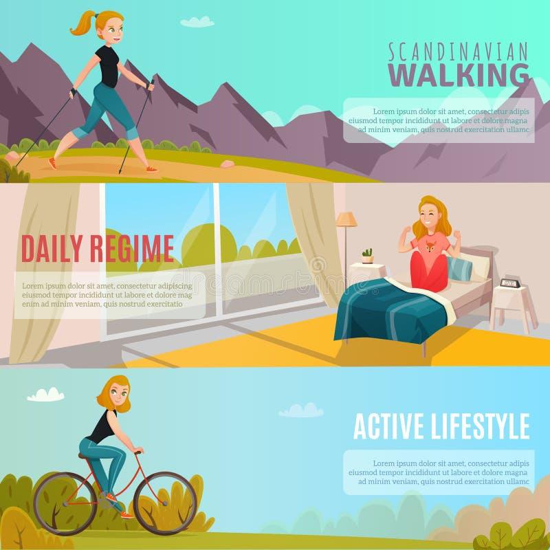 Sunda livsstilbaner vektor illustrationer
