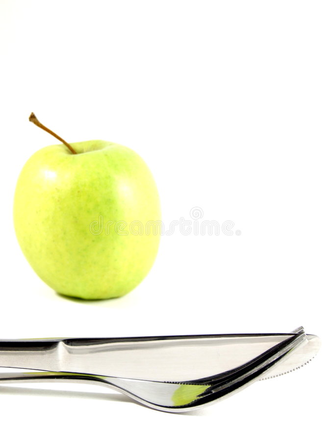 sunda utensils för äpple arkivbilder