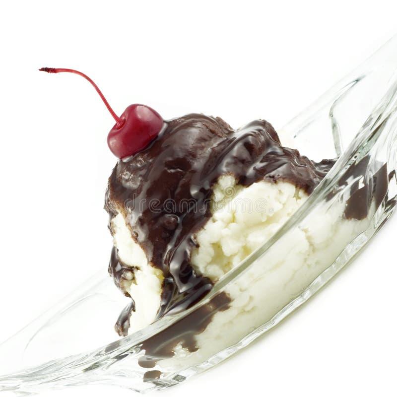 Sundae delicioso do gelado imagens de stock
