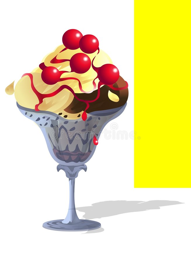 Download Sundae Ice-Cream With Cherry Stock Illustration - Image: 4895302