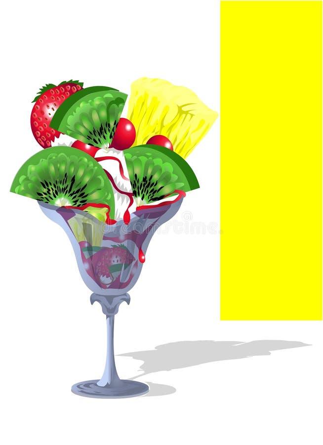 Download Sundae Whipped Ice-Cream With Fruit Salad Stock Illustration - Image: 4895242