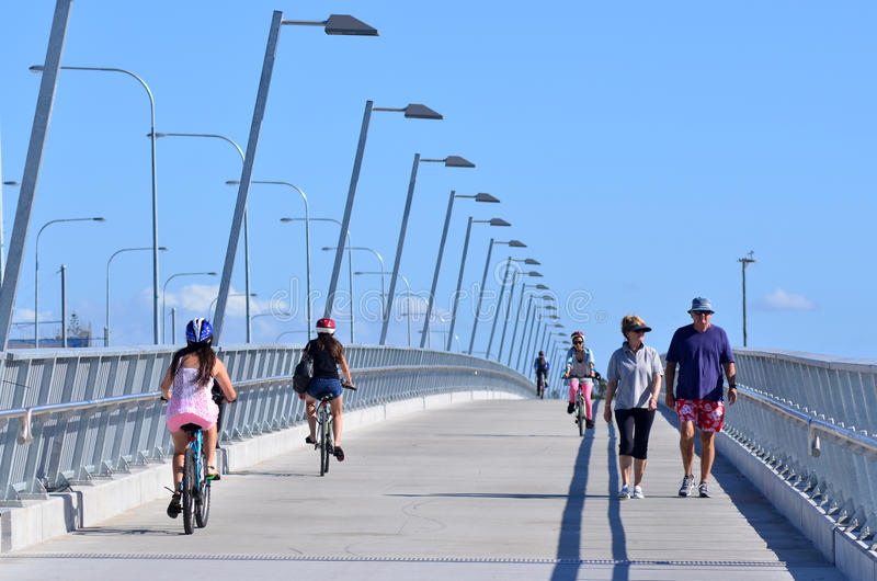 Sundale Bridge in Gold Coast Queensland Australia royalty free stock image
