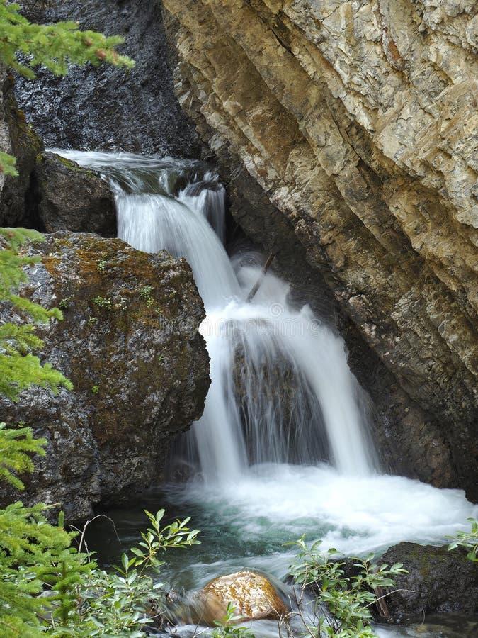 Free Sundance Canyon Waterfall Banff National Park Royalty Free Stock Photos - 105589238