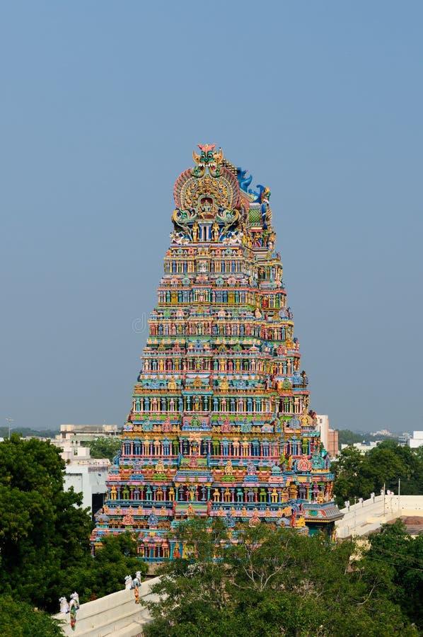 sundareswarar tempel för meenakshi royaltyfria foton