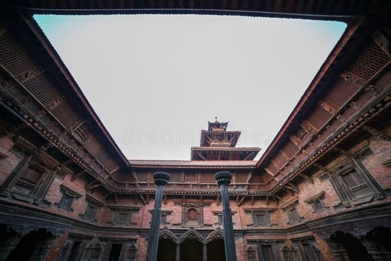 Sundari Chowk Patan Durbar kwadrat fotografia royalty free