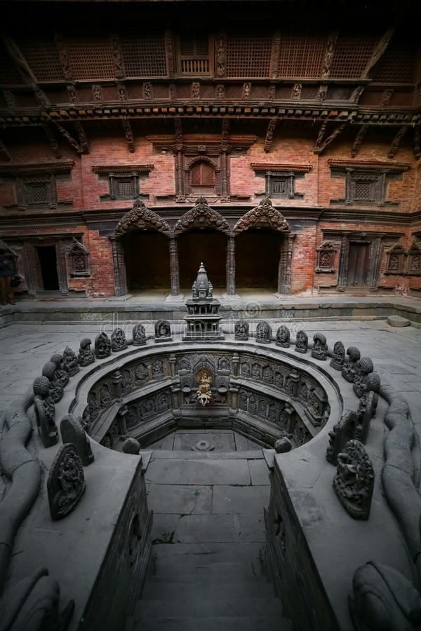 Sundari Chowk of Patan Durbar Square.  royalty free stock images