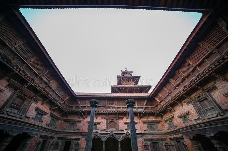 Sundari Chowk of Patan Durbar Square royalty free stock photography