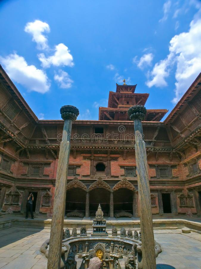Sundari Chowk of Patan Durbar Square. Sundari Chowk, Tusha Hiti in Patan, Nepal royalty free stock photo