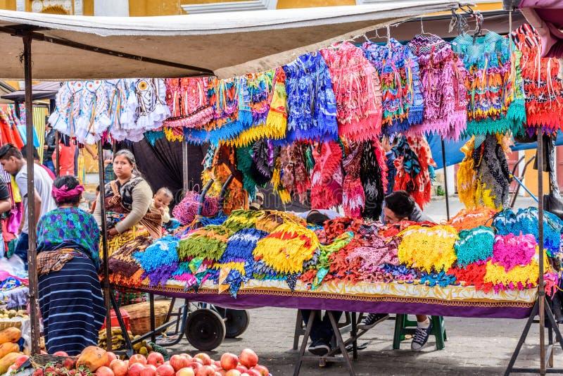 Sunday market stall, Santa Maria de Jesus, Guatemala stock photo