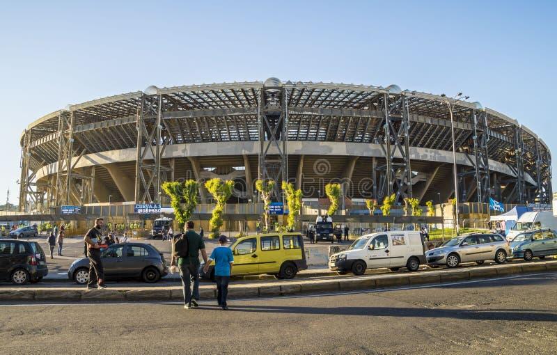 Sunday sunset over San Paolo Stadium ,Napoli royalty free stock photos