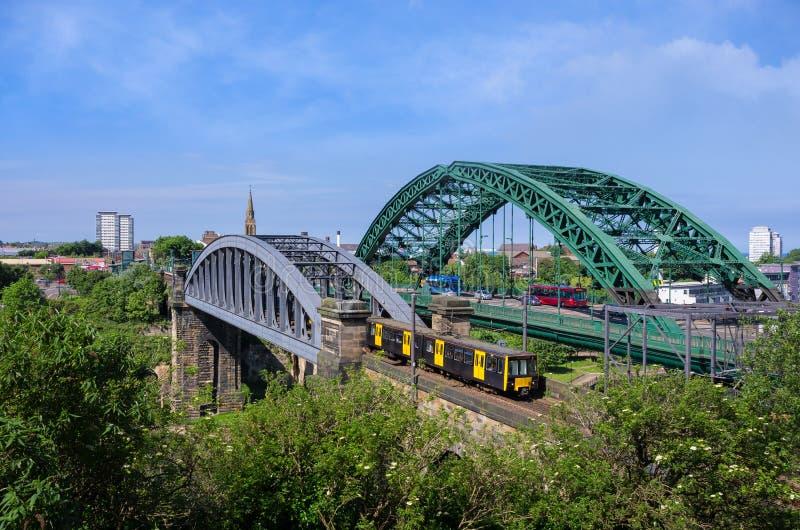 Sunderland Bridges stock image