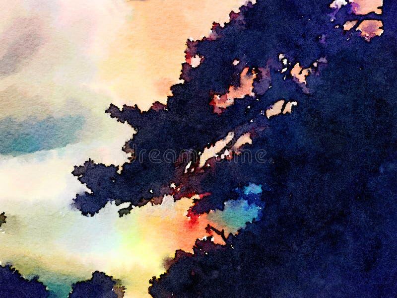 Sundet в Sedona иллюстрация штока