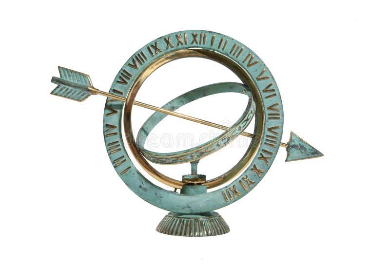 Sundial. Isolated over white stock photo