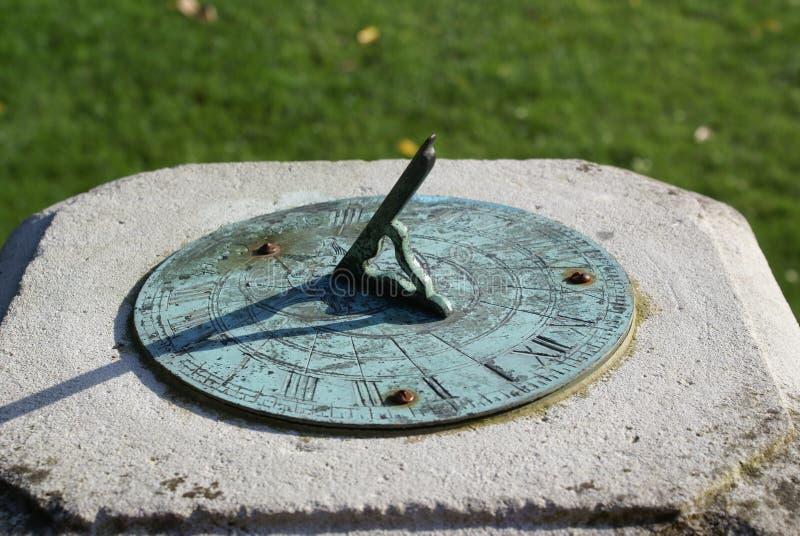 Sundial. Set in the formal garden, Essex, Saffron Walden, England stock photography