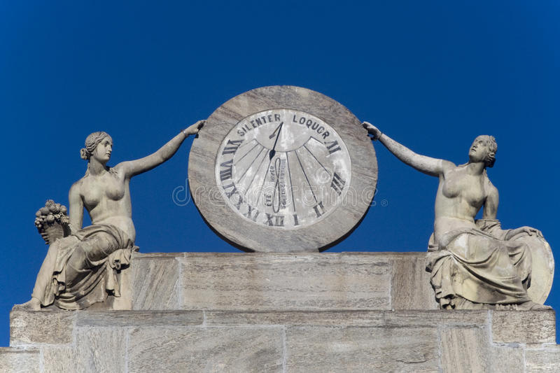 Download Sundial stock photo. Image of numbers, clock, gilt, shadow - 12030680