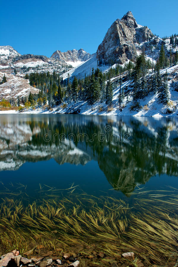 The Sundial. Lake Blanche, Twin Peaks Wilderness, Utah stock photo