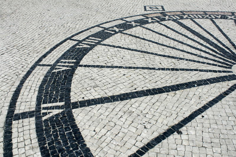 Sundial. Detail of sundial in Nazare, Portugal royalty free stock photography