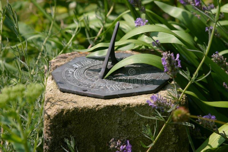 Sundial. A sundial in a garden royalty free stock photo