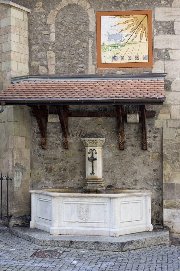 Switzerland Geneva Old Town stock photo