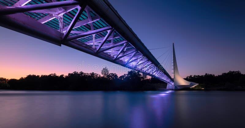 Sundial Bridge. At Turtle Bay on the Sacramento River Trail in Redding California royalty free stock photography