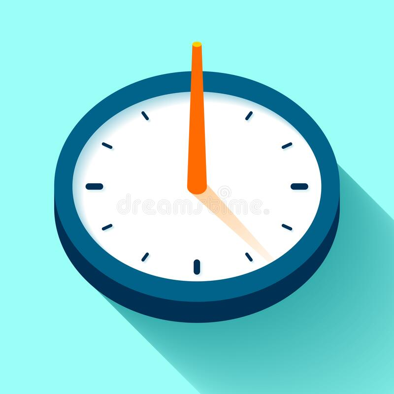 Free Sundial Clock Icon In Flat Style, Timer On Color Background. Retro Watch. Vector Design Element For You Project Royalty Free Stock Photography - 178306687