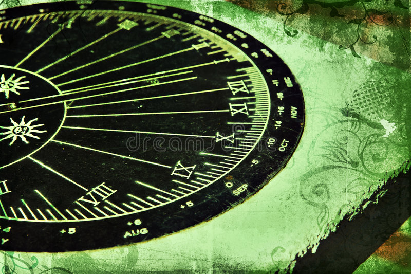 Sundial di Grunge royalty illustrazione gratis