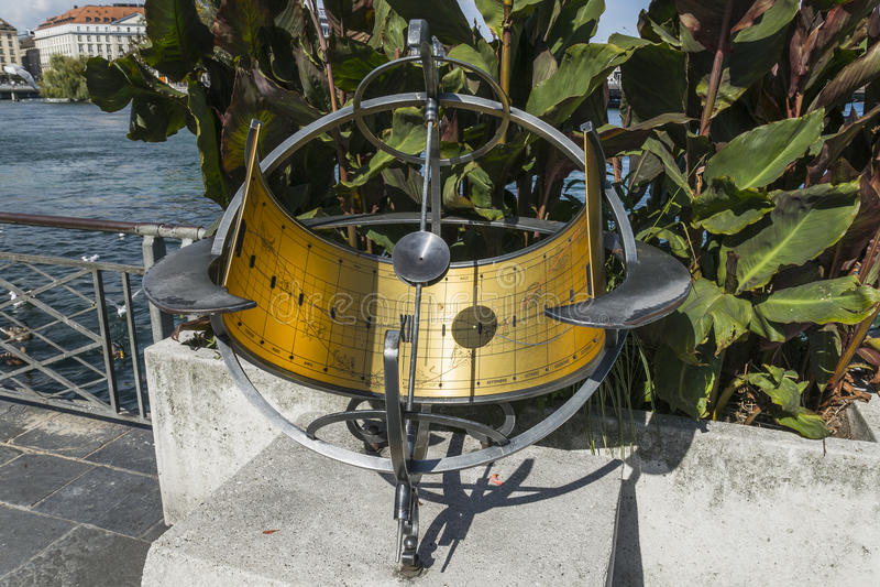 sundial in Geneva royalty free stock photos