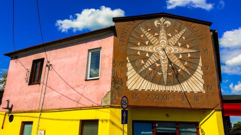 Sundial in Jędrzejów, Poland royalty free stock photography