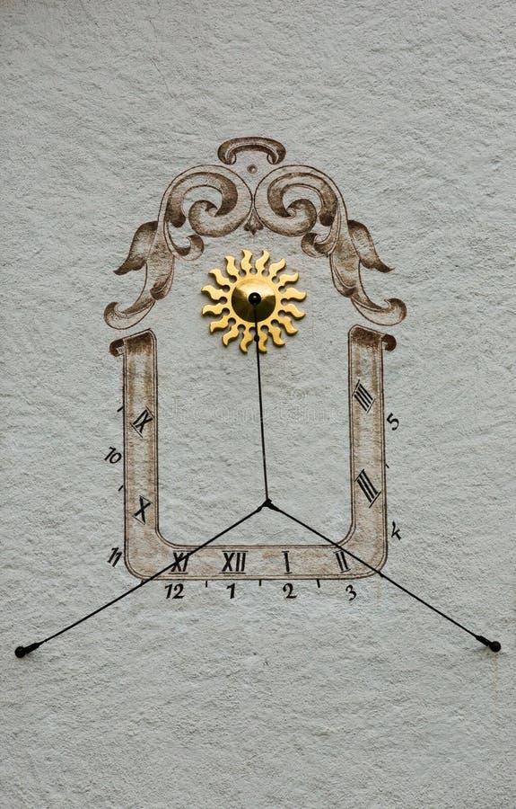 Sundial - Murren, Switzerland - MURREN, SWITZERLAND stock photos