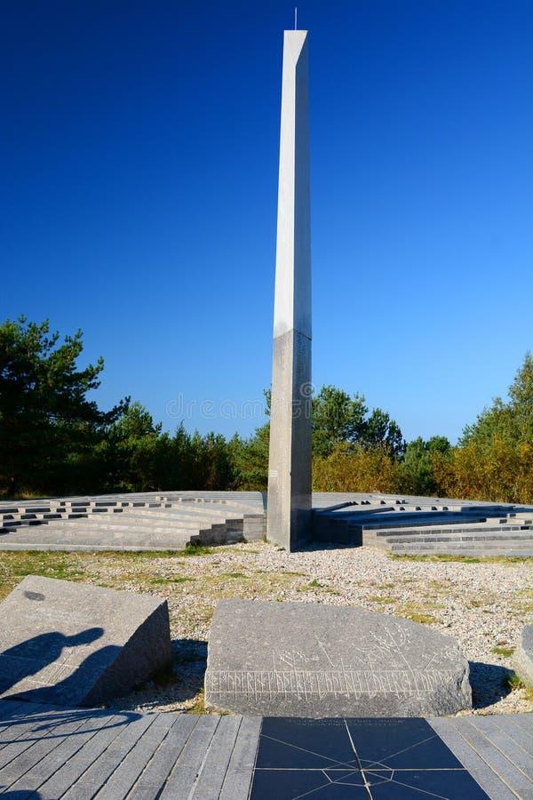 sundial Nida lituania fotos de archivo libres de regalías