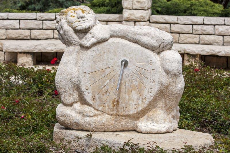 Sundial. Placed in Ramat Hanadiv - Israel royalty free stock image