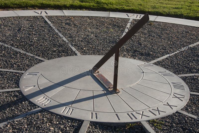 Sundial. A sundial showing the time royalty free stock photography