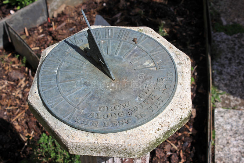Sundial. Standing in a garden royalty free stock images