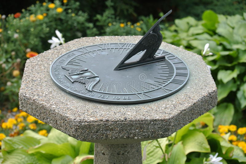 Sundial on Stone Pedestal royalty free stock images