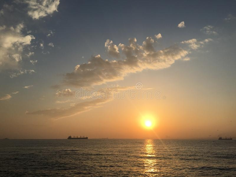sundown fotografia stock libera da diritti