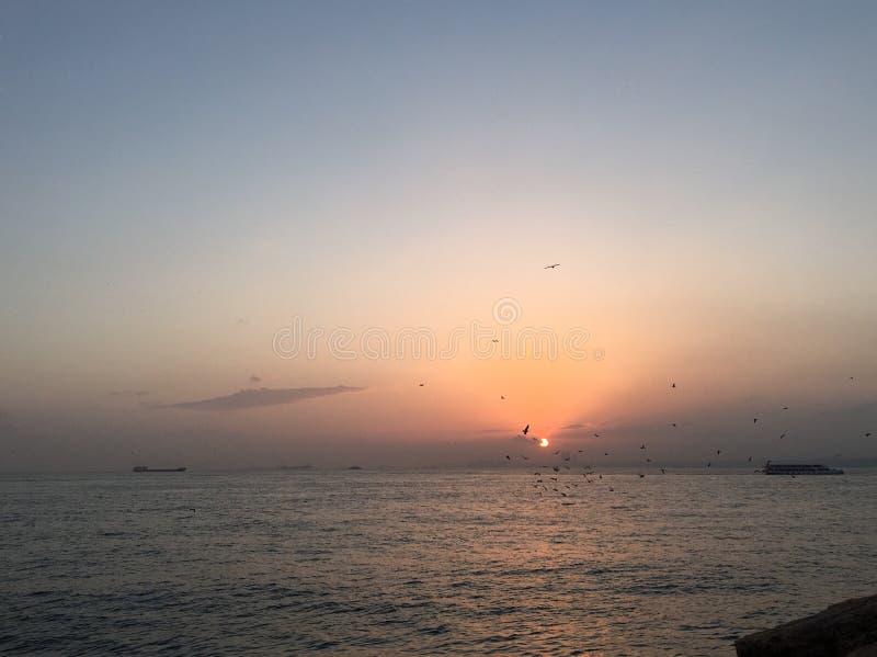 sundown fotografie stock