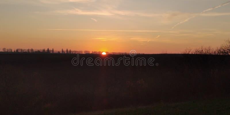 Sundown stock afbeeldingen