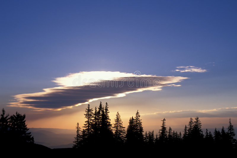 Sundown. Over Southern Carpathians, Romania royalty free stock photo