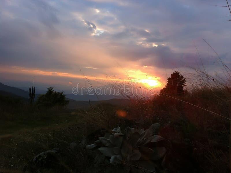 sundown стоковые фотографии rf