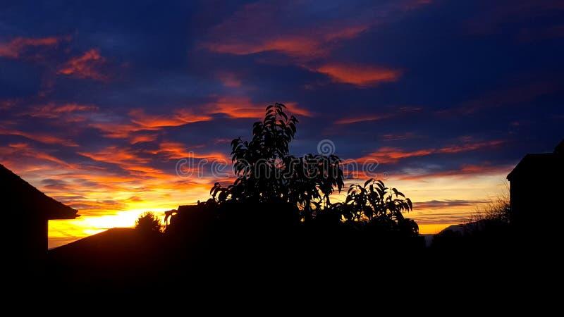 sundown стоковое изображение